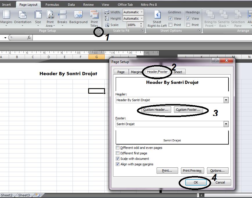 Cara Membuat Header dan Footer di MS Excel