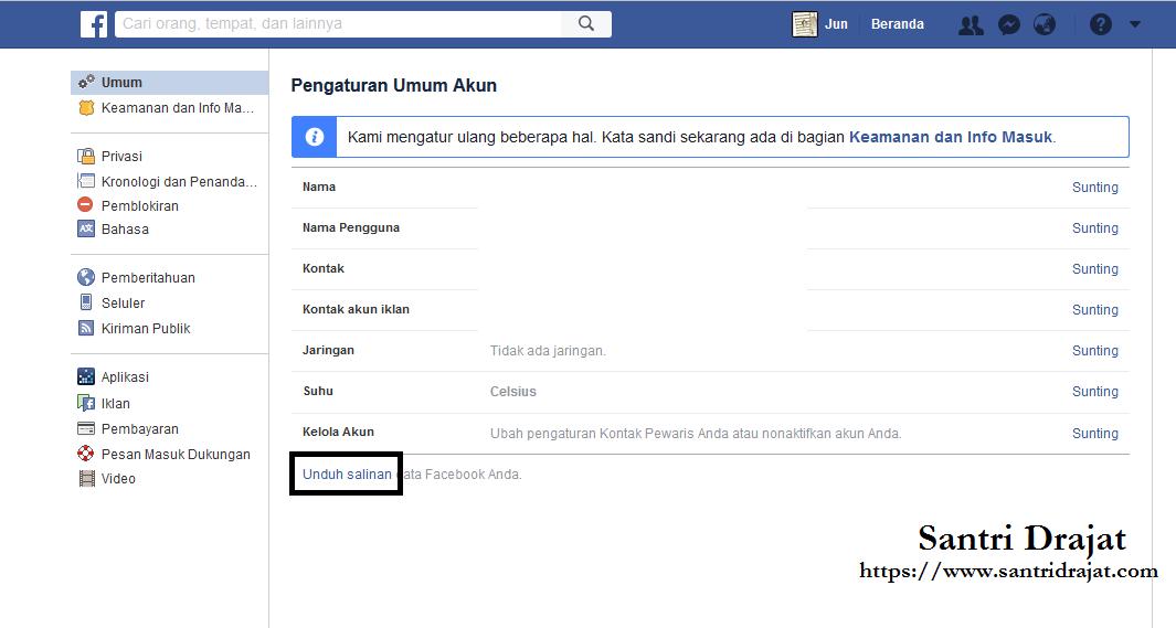 Mengembalikan Status, Foto & Pesan Facebook Yang Terhapus