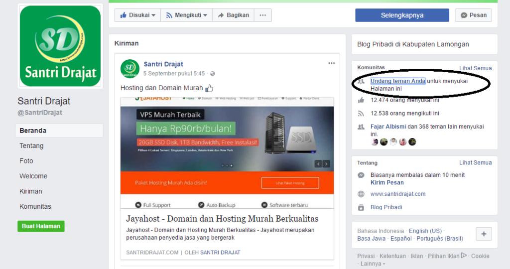 Cara Menambah Like Fanspage Facebook Secara Massal