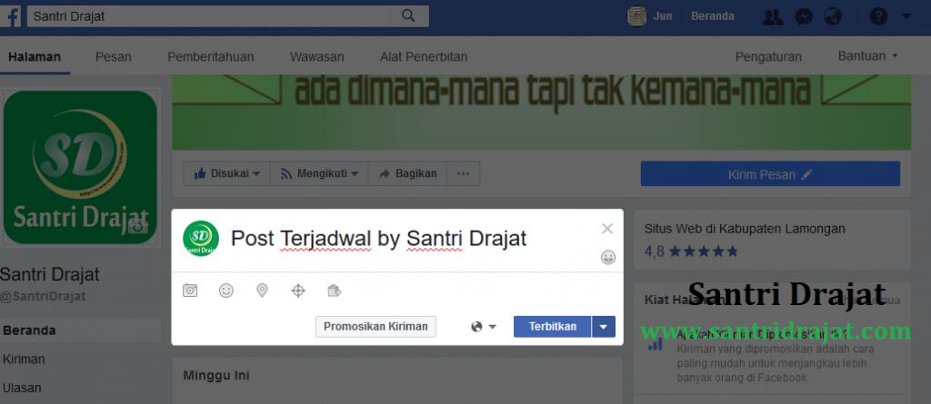 Cara Membuat & Mengatur Post Terjadwal Fanspage Facebook