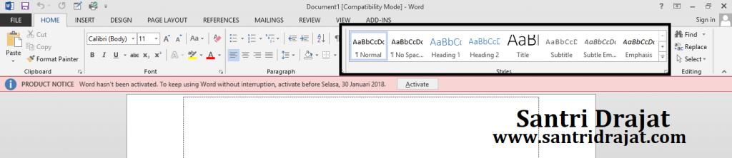 Cara Merubah Font atau huruf Default Microsoft Word