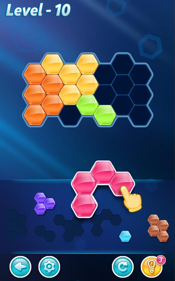 Game Ringan Android Cocok Untuk Mengisi Waktu Luang - Hexa Puzzle