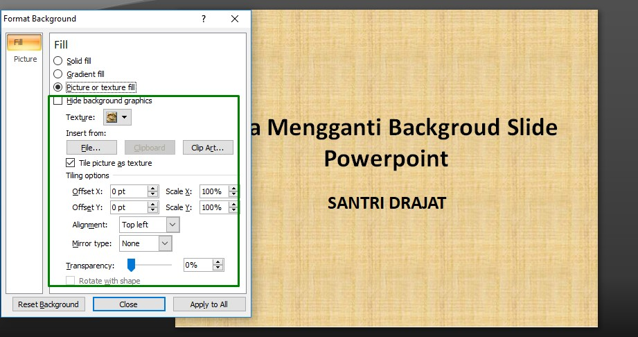 Cara Mengganti Backgroud Slide Powerpoint