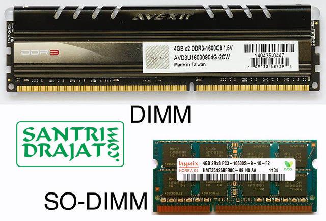 Pengertian dan Perbedaan Memori RAM DIMM dan RAM SODIMM